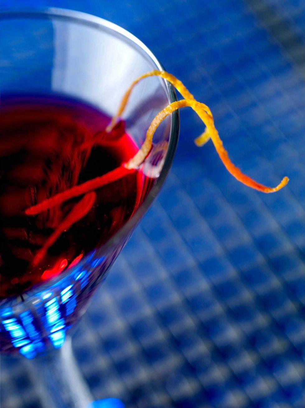 Calgary Beverage Photographer. Close up shot of a vibrant martini.