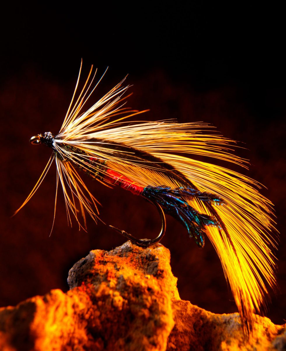 Calgary Product Photographer. Fishing lure with feather.