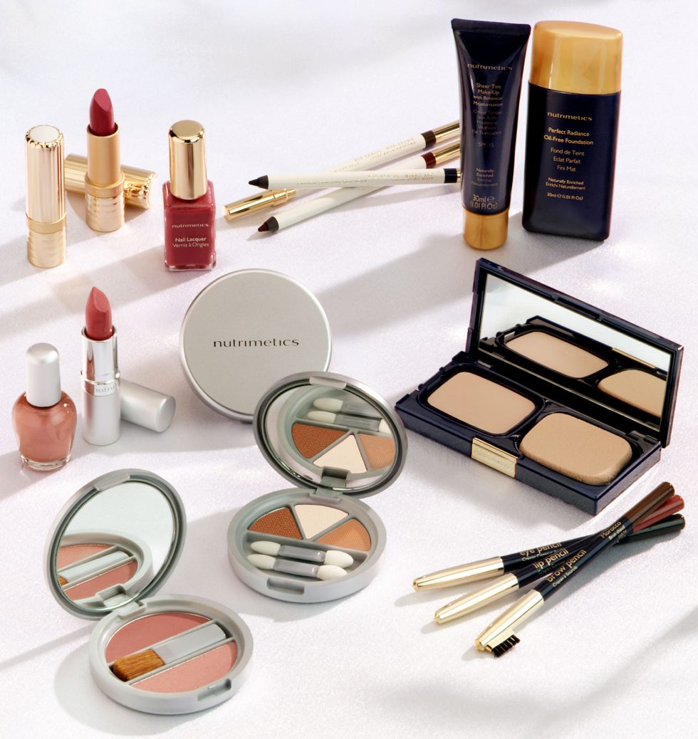 Calgary Product Photographer. Nutrimetics makeup lineup.
