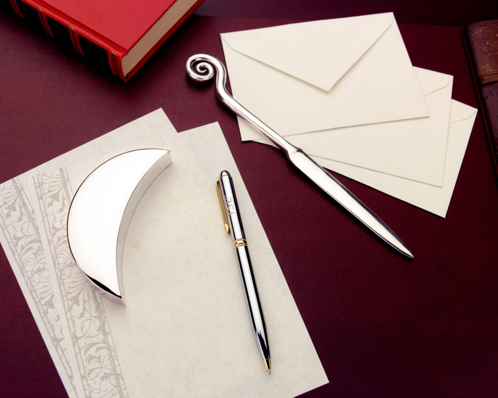 Calgary Product Photographer. Regal letterhead with pen and envelope opener.