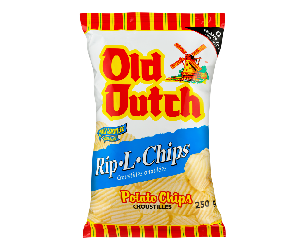 Calgary Product Photography. A bag of Old Dutch Rip-L-Chips