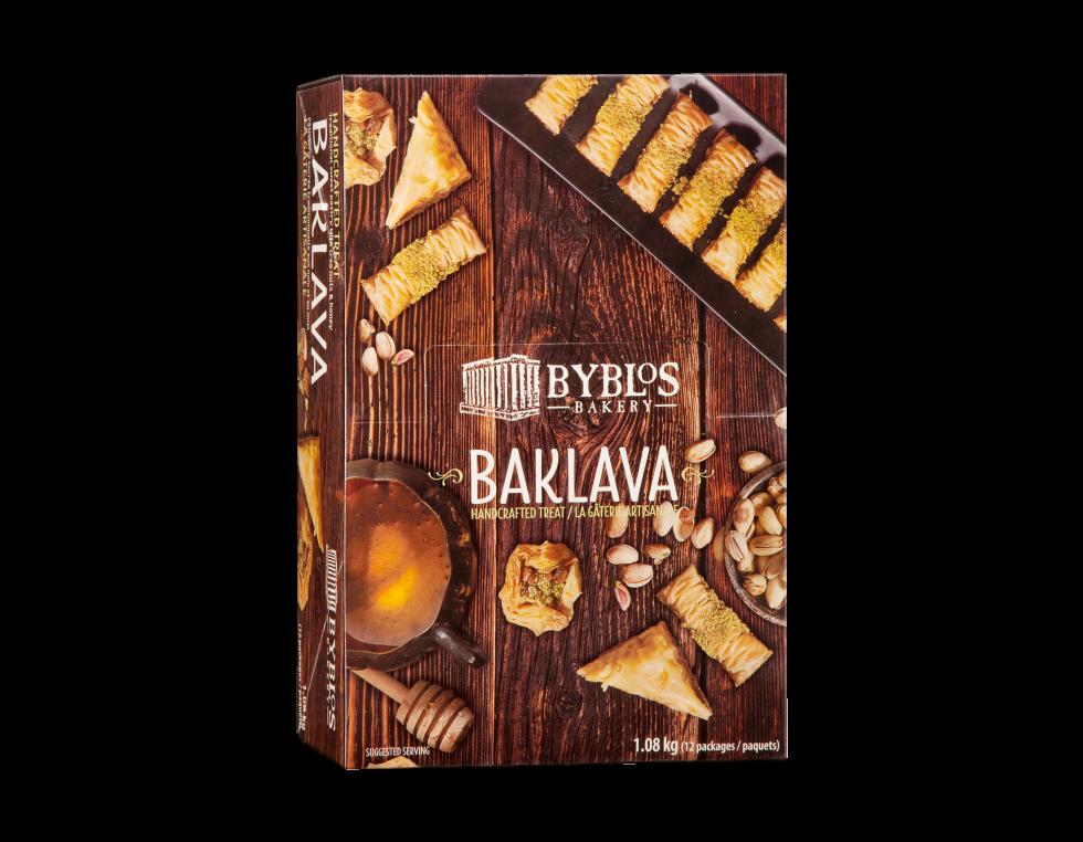 Calgary Product Photography. A box of Byblos Bakery Baklava