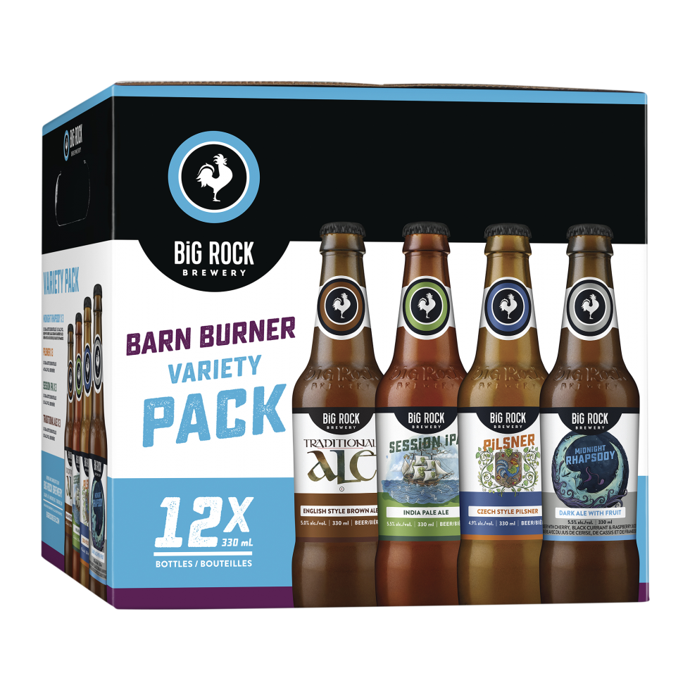 Calgary Product Photography. Big Rock Brewery Variety Pack of Beer.