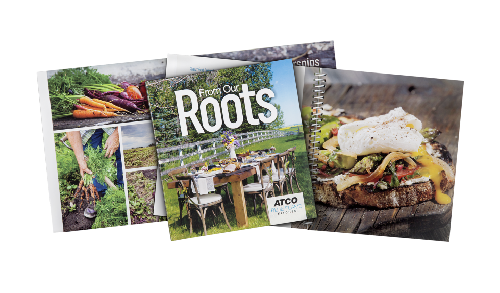 Calgary Product Photography. From our Roots Cookbook by ATCO Blue Flame Kitchen.