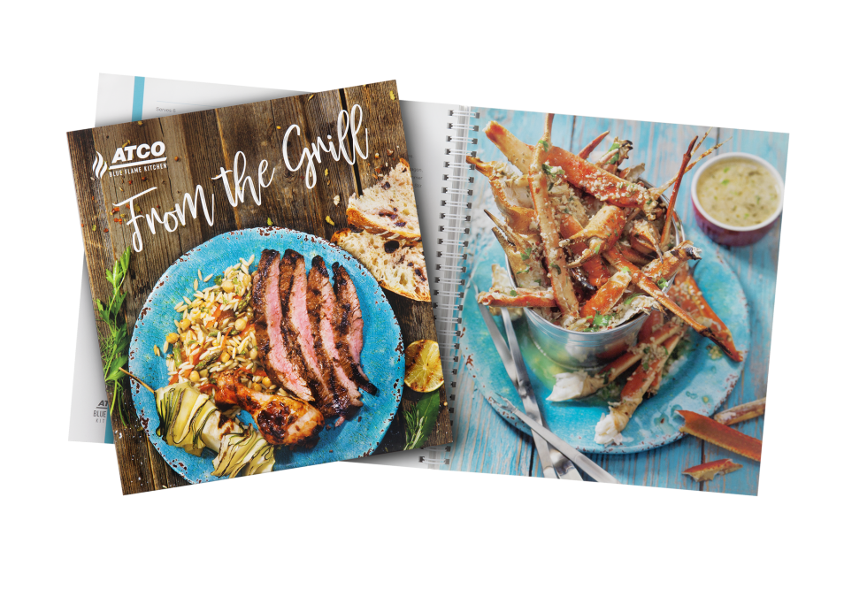 Calgary Product Photography. From the Grill Cookbook by ATCO Blue Flame Kitchen.