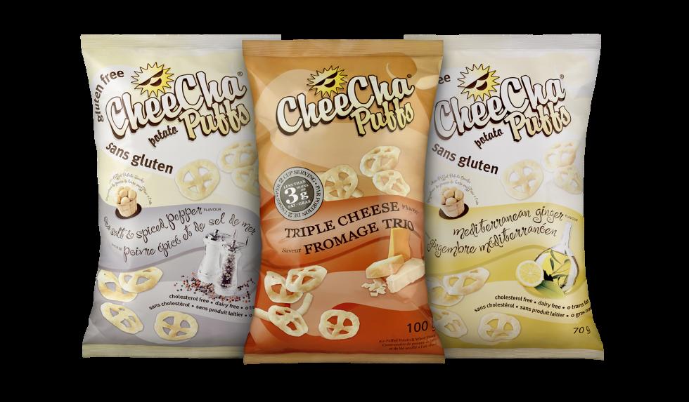 Calgary Product Photography. Gluten Free CheeCha Potato Puffs.