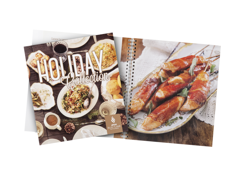 Calgary Product Photography. Holiday Collection Cookbook 2 by ATCO Blue Flame Kitchen.