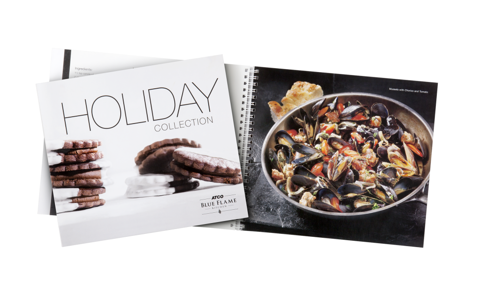 Calgary Product Photography. Holiday Collection Cookbook by Atco Blue Flame Kitchen.