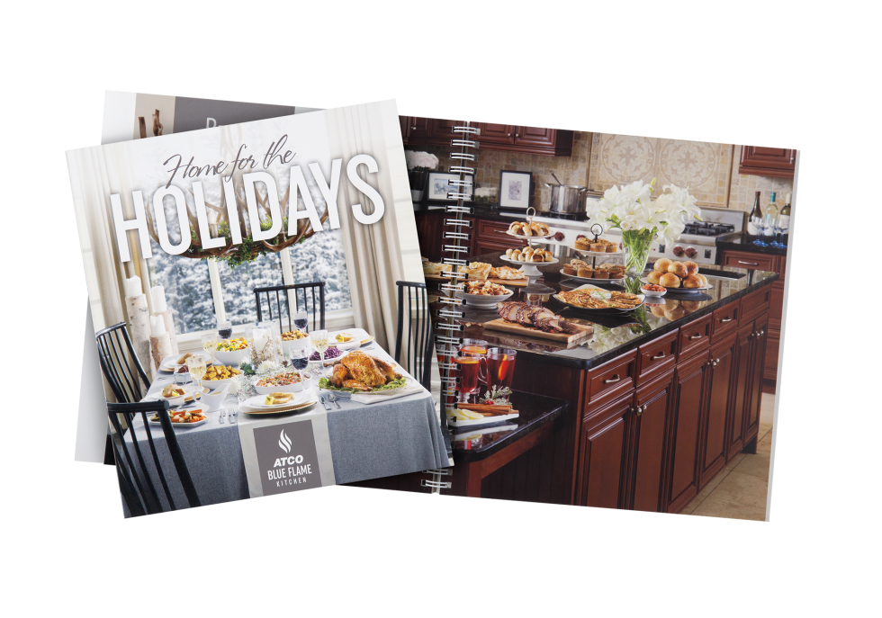 Calgary Product Photography. Home for the Holidays Cookbook by ATCO Blue Flame Kitchen.