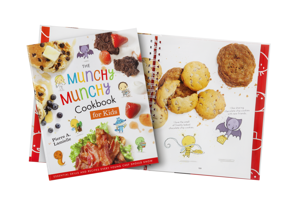 Calgary Product Photography. The Munchy Munchy Cookbook for Kids by Pierre A. Lamielle.